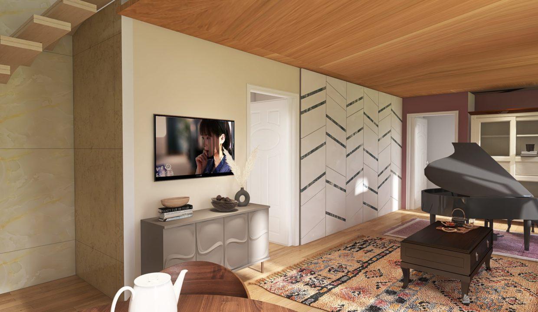 Appartamento- trilocale-soppalcato-con doppi servizi-a Venegono Superiore-in classe A (2)