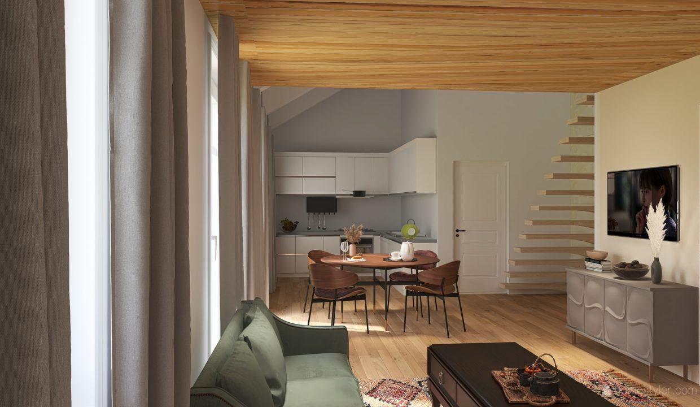 Appartamento- trilocale-soppalcato-con doppi servizi-a Venegono Superiore-in classe A (7)