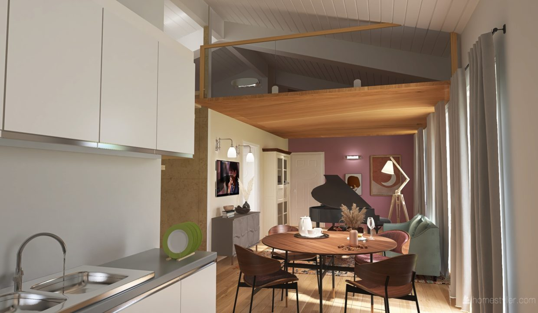 Appartamento- trilocale-soppalcato-con doppi servizi-a Venegono Superiore-in classe A (9)