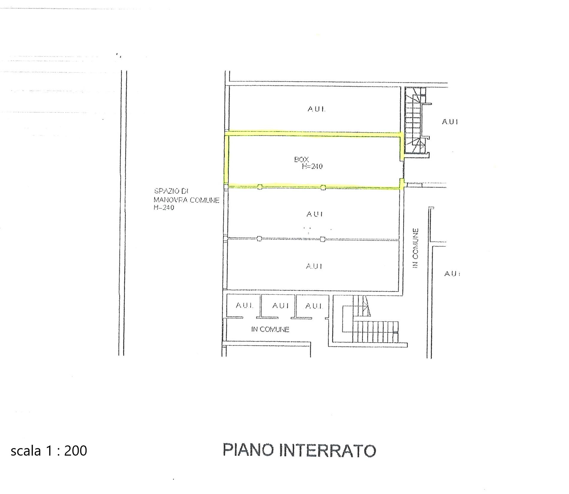 Piano interrato-box