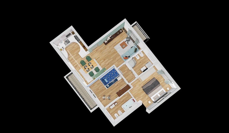 trilocale al primo piano-con doppi servizi-a Venegono Superiore-classe A (5)